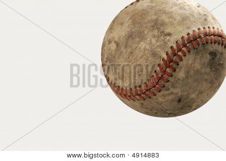 Béisbol gastado viejo