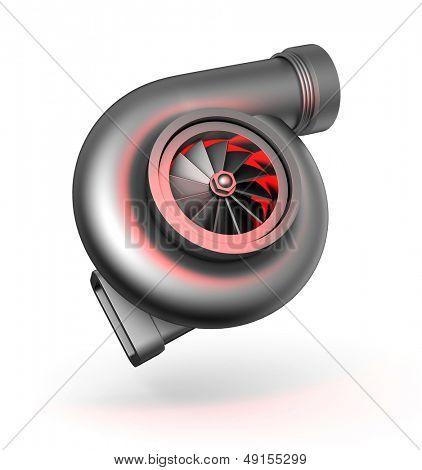 Turbocharger. Turbine for auto