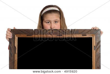 Child Holding Frame