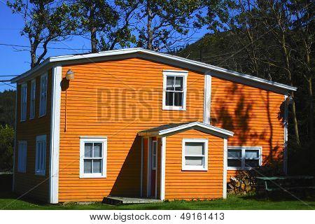 Orange/Yellow House
