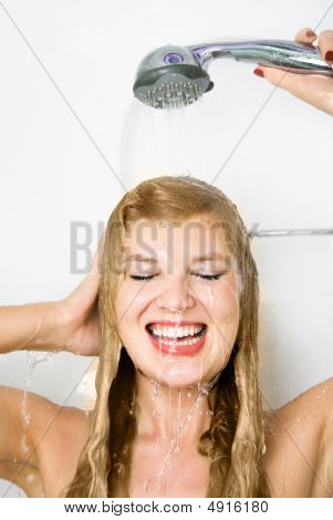 Pretty Woman Taking A Shower