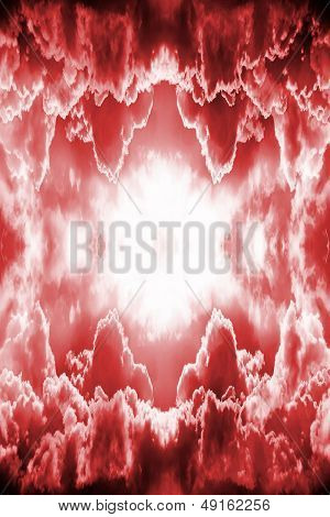 Dramatic Red Fantasy Background