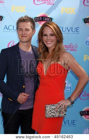 LOS ANGELES - AUG 11:  Lucas Grabeel, Katie Leclerc at the 2013 Teen Choice Awards at the Gibson Ampitheater Universal on August 11, 2013 in Los Angeles, CA