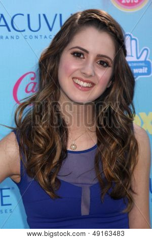 LOS ANGELES - AUG 11:  Laura Marano at the 2013 Teen Choice Awards at the Gibson Ampitheater Universal on August 11, 2013 in Los Angeles, CA