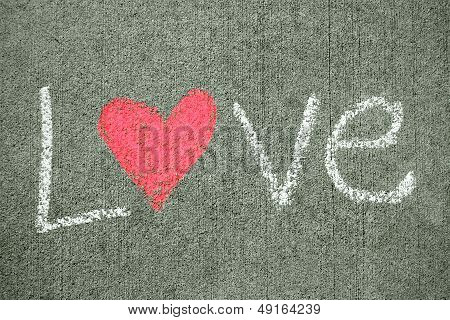 Word Love With Heart