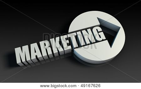 Marketing Concept With an Arrow Going Upwards 3D