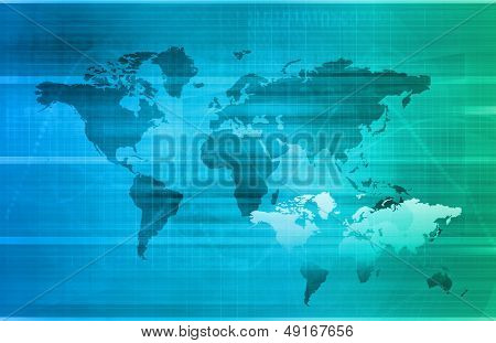 Telecommunications Network all over the World Art