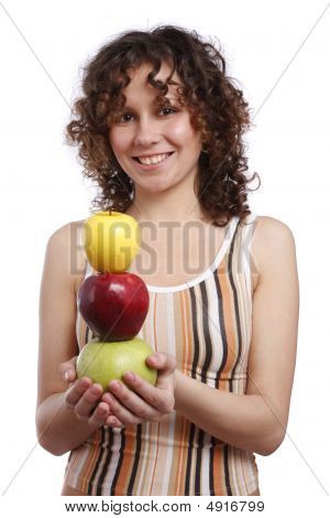 Girl With Apples.