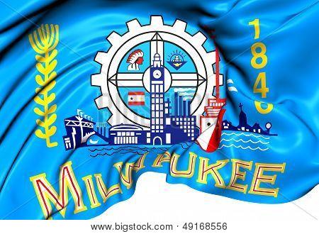 Flag Of Milwaukee, Usa.
