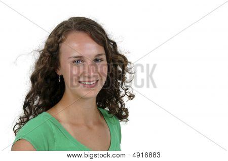 Pretty Teenage Girl Isolated