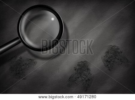 Fingerprints and Magnifying Glass
