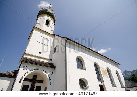 Church With Steeple In Tirol Austria