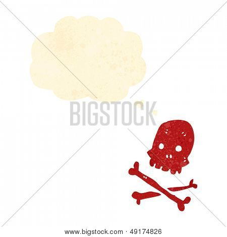 retro cartoon skull and crossbones symbol