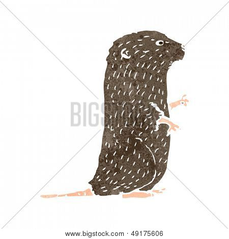retro cartoon water vole