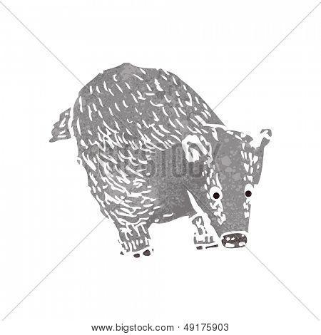 retro cartoon badger