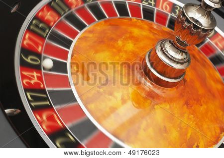 Roulette Wheel close up