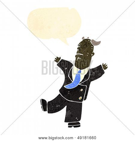 retro cartoon fainting businessman