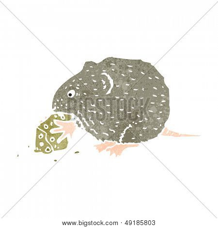 retro cartoon mouse nibbling mouse