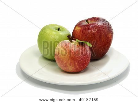 Colorful apples isolated  on white