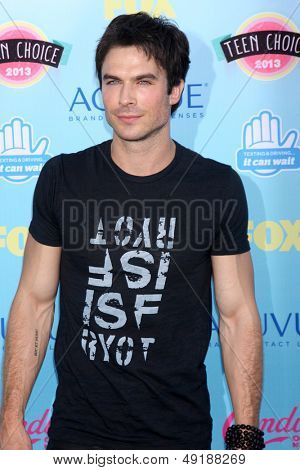 LOS ANGELES - AUG 11:  Ian Somerhalder at the 2013 Teen Choice Awards at the Gibson Ampitheater Universal on August 11, 2013 in Los Angeles, CA