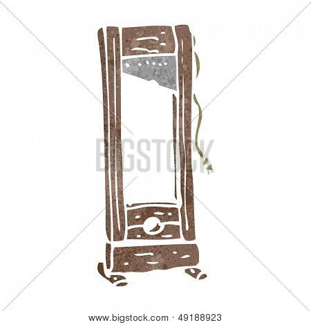 retro cartoon guillotine