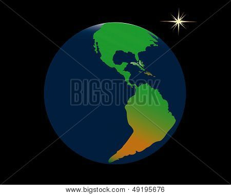 Planet Earth And A Star