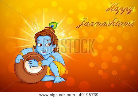 Lord Krishna stealing makhaan in Janmashtami