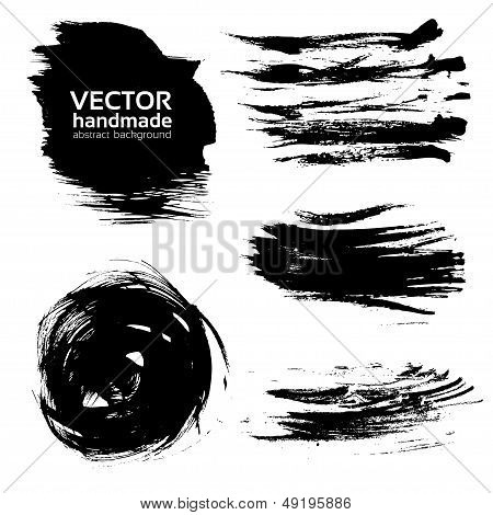 Vetor Abstract Brush Strokes pintura