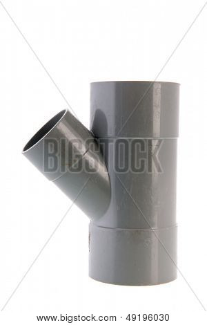 Used PVC tube isolated over white background