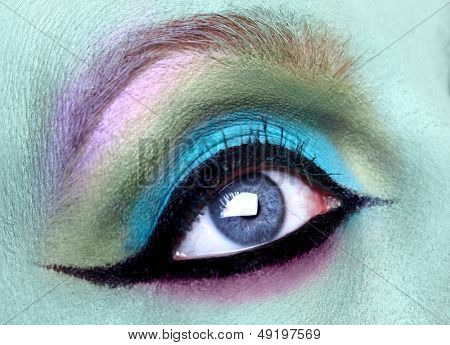 Extreme Close Creative Eye Make Up Macro Shot