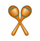 foto of maracas  - Pair of maracas in brown design isolated on white background - JPG