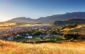 stock photo of west village  - Rural scene in Slovakia Tatras  - JPG