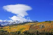 stock photo of mear  - Mount Sneffels Range with fall color, Colorado, USA