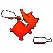 picture of greedy  - retro cartoon greedy fox - JPG