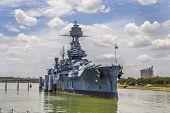foto of battleship  - The Famous historic Dreadnought Battleship in Texas - JPG