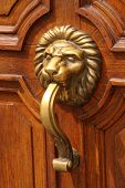 picture of woodcarving  - Ornate wooden doors Sofia - JPG