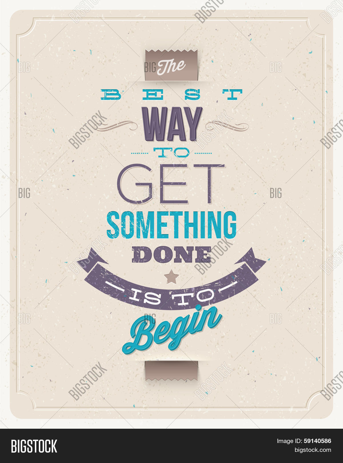 "Motivating Quotes Motivating Quotes  "" Best Way Get Vector & Photo  Bigstock"