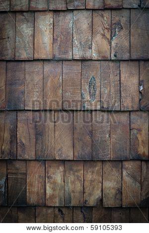 Dark wooden panelling background