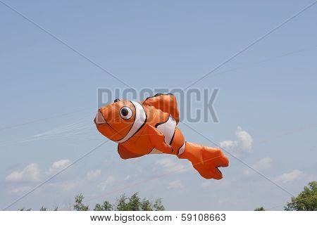 Orange And White Nemo Clownfish Kite
