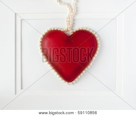 Framed Heart with Pearls