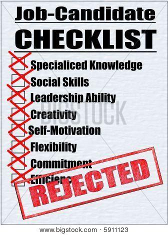 Job Candidate - Checklist