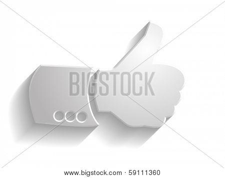 3d illustration of like icon