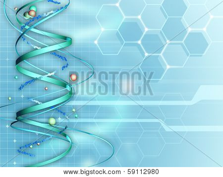 Background suitable for medical and research subjects. Digital illustration.