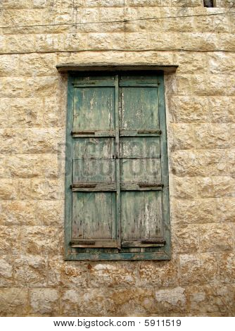 Bolted Green Window