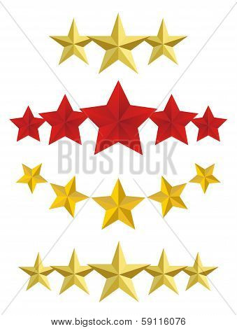 Vector Five golden stars