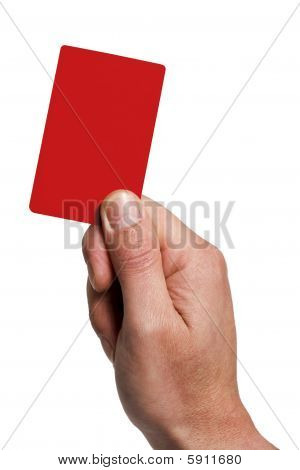Showing The Penalty Card