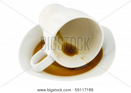 Overturned Coffee Cup