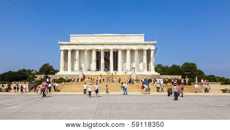 People Visit Lincoln Memorial In Washington