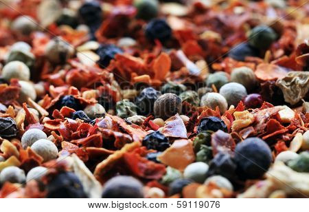 Spices mix background