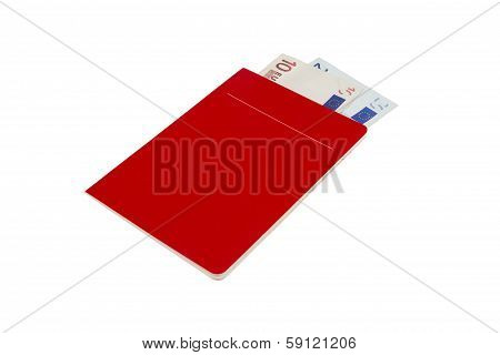 Blank Account Book With Euro